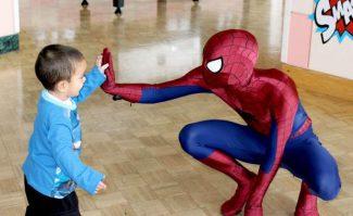 SLHS Alumnus Plays Spider-Man at Children's Hospital